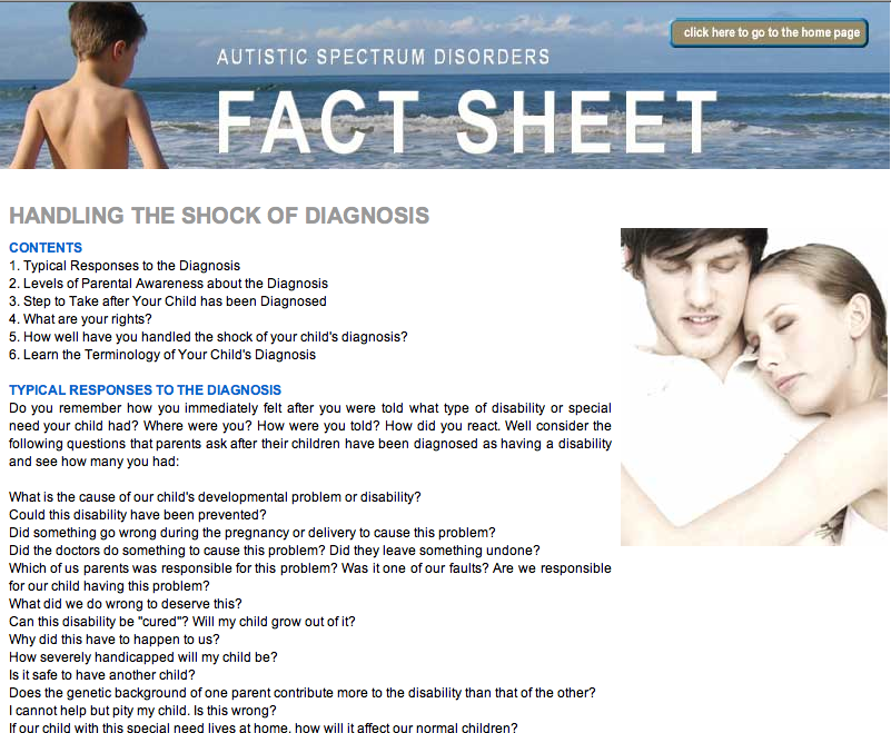 autism fact sheet What is autism fact sheets fact sheets check our fact sheets to find our more about the current resources available to you click on the links below to view our.