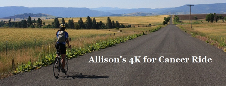 Allison's 4K for Cancer Ride