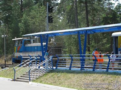 Казанская детская железная дорога, смена локомотива