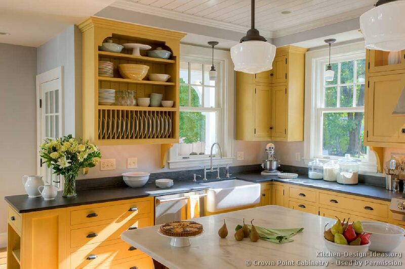 Vintage Farmhouse Color in the Kitchen