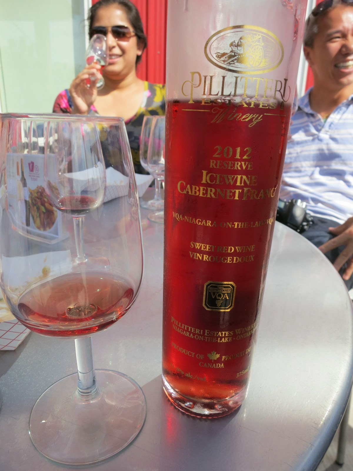 Wine Review of 2012 Pillitteri Reserve Cabernet Franc Icewine from VQA Niagara, Peninsula