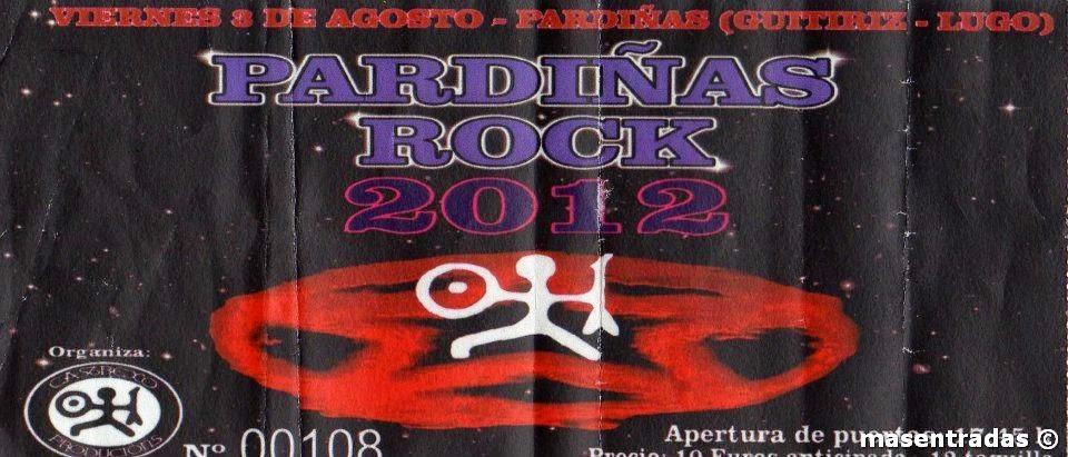 entrada de concierto del pardiñas rock 2012