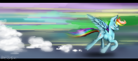 "Style and Speed of Rainbow Dash from ""The Ticket Master"""