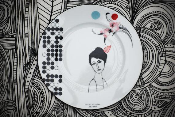 bordje, dame, helene, mooi, design, etsy,