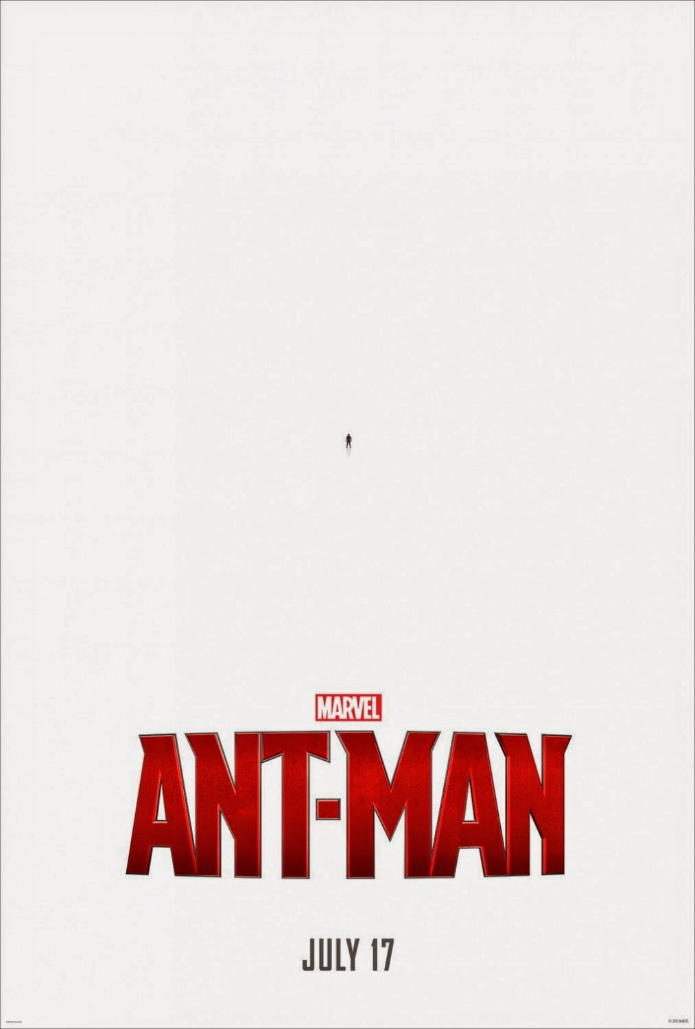 Marvel's Ant-Man First Theatrical One Sheet Teaser Movie Poster