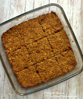 Baked oatmeal with pumpkin, the breakfast going quick and fruity ...