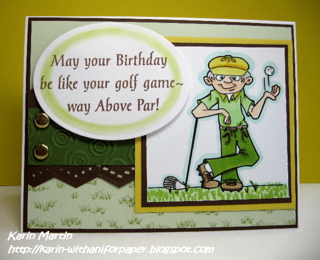 With an i For Paper July 2011 – Golfing Birthday Cards