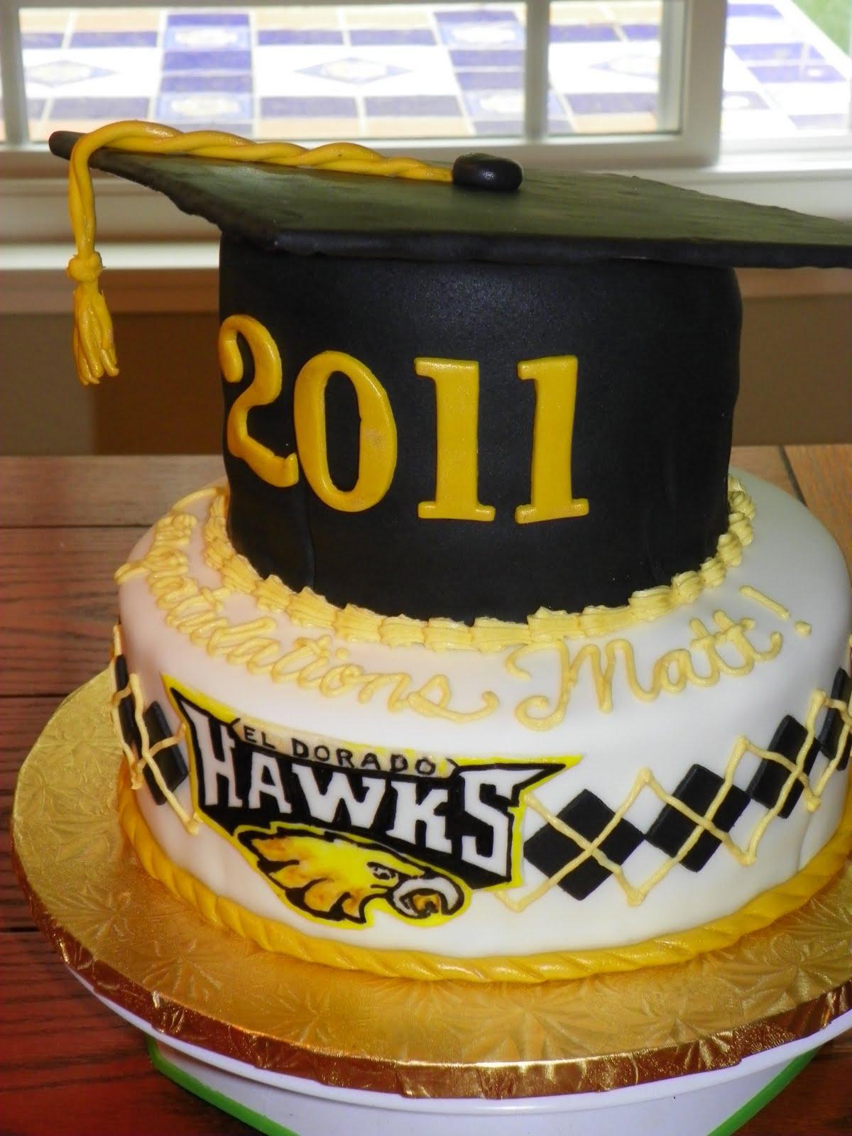 Cake Design School : Plumeria Cake Studio: El Dorado High School Graduation Cake
