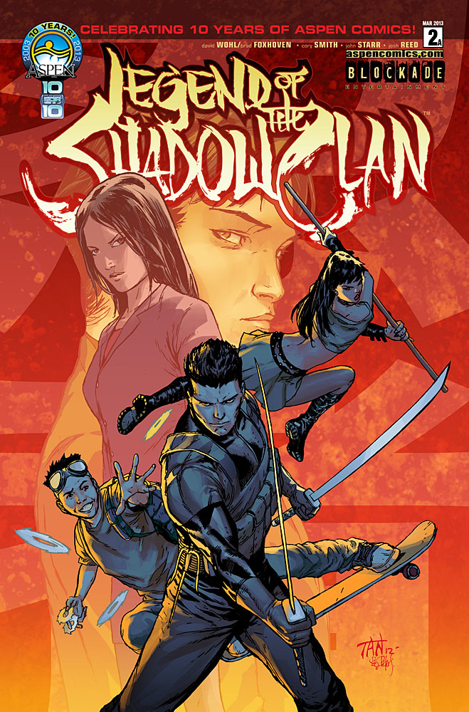 "Aspen's Legend of the Shadow Clan #2 to Continue ""10 FOR 10"" with J. Scott Campbell incentive covers"