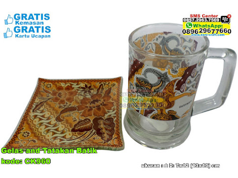 Gelas And Tatakan Batik