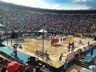 Colombia rompe nuevamente record  de espectadores en partido de Beach | Mundo Handball