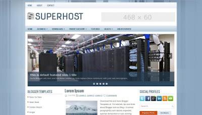 SuperHost blogger template ads-ready