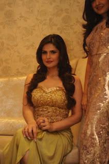 Zarine Khan Dazzling Glittering Choli Gown at Earth 21 Collection Launch In Santacruz, Mumbai