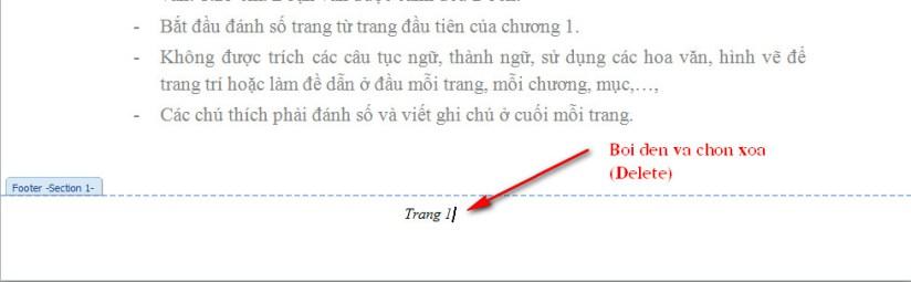 xóa đánh số trang tự động trong word 3