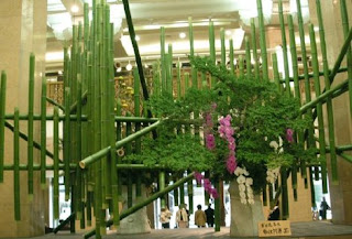 Artificial Green Bamboo Poles and Split Yellow Bamboo Poles