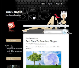 Shoe Mania Blogger Template