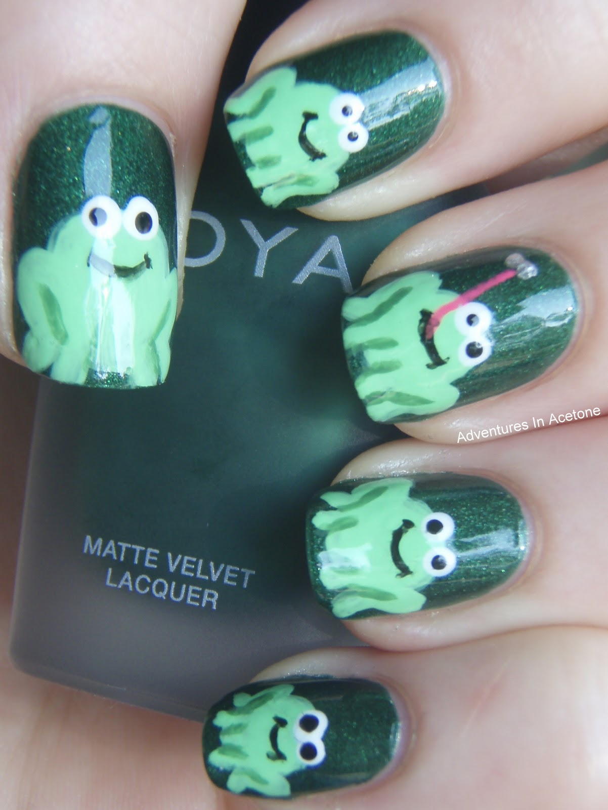 Frog Nail Tutorial - Adventures In Acetone