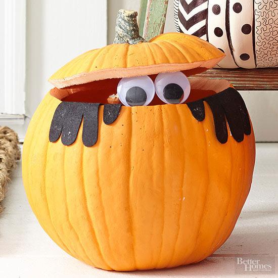 Creative Halloween Pumpkin Carving Decorating Ideas DIY · Better Homes U0026  Gardensu0027 Peek A BOO! Pumpkin