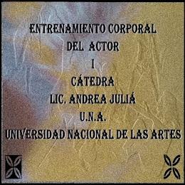 mail de la cátedra: andre12589@gmail.com -             Facebook: Cátedra Lic Juliá - Corporal-UNA