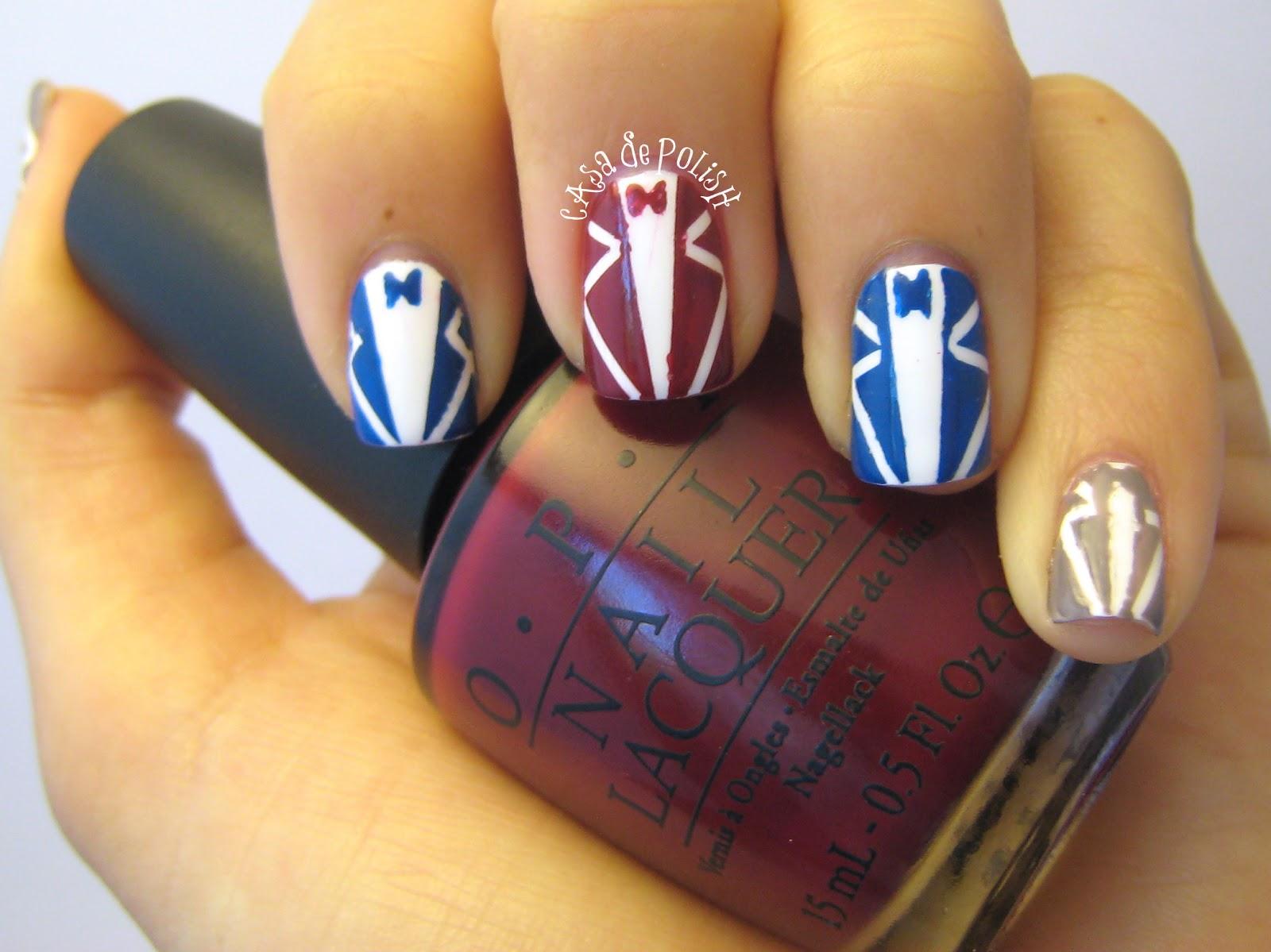 Casa de Polish: May Tri-Polish Challenge Day 4 - Tuxedo Nails + Mini ...