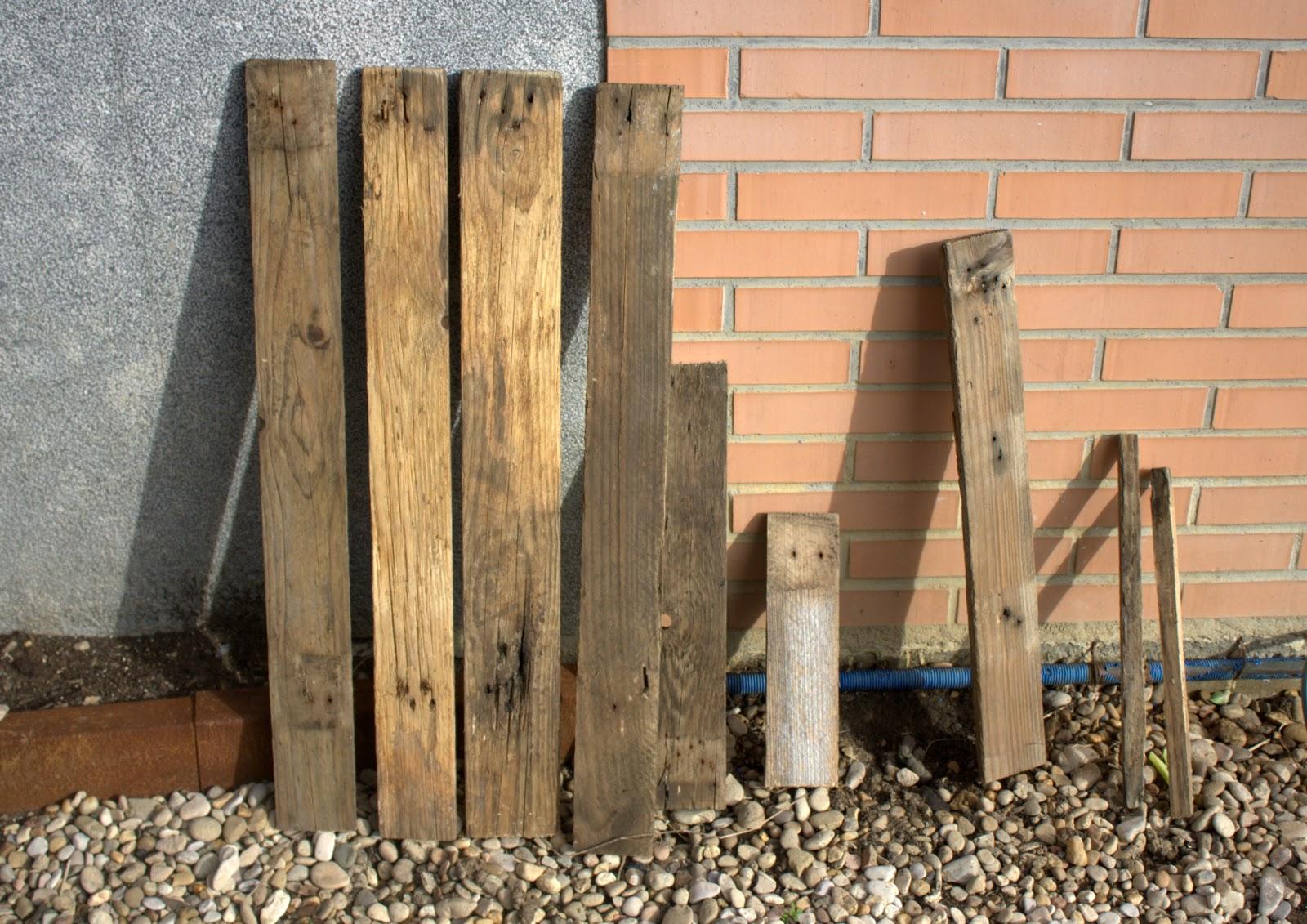 Como hacer una mesa de madera r stica el nido de mam - Como lijar una puerta ...