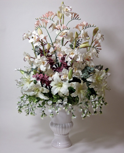 how to make silk flower arrangements for wedding