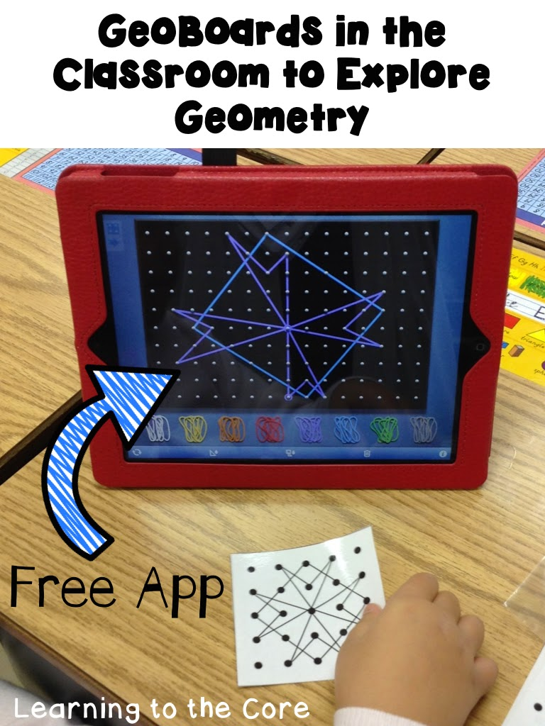 Whether you have geoboards or ipads in your classroom you can take