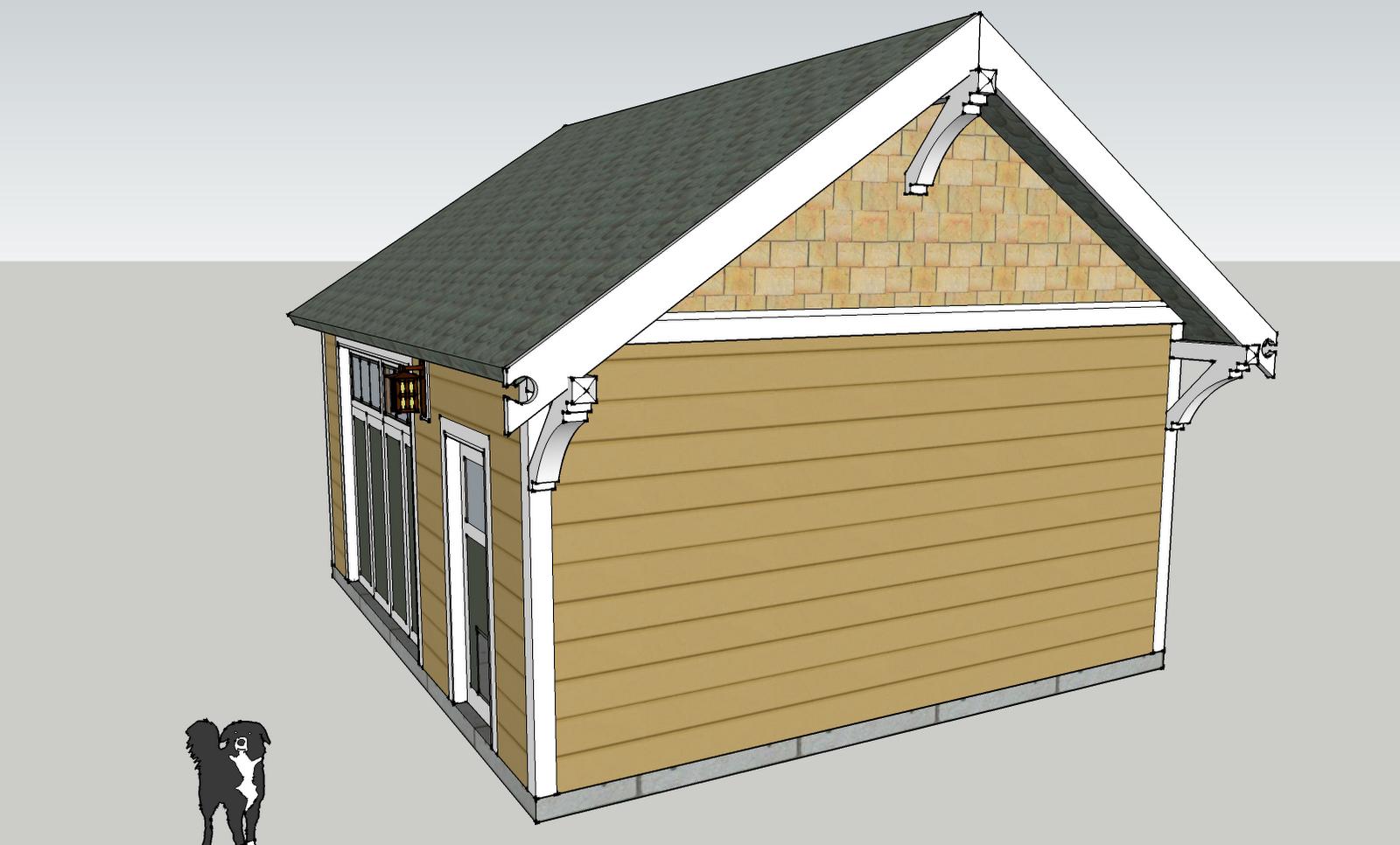 Laurelhurst craftsman bungalow pondering garage solution for Garage gable