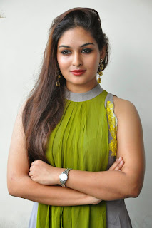 Actress Prayaga Martin Latest Picture Gallery at Pisachi Movie Success Meet 018.JPG