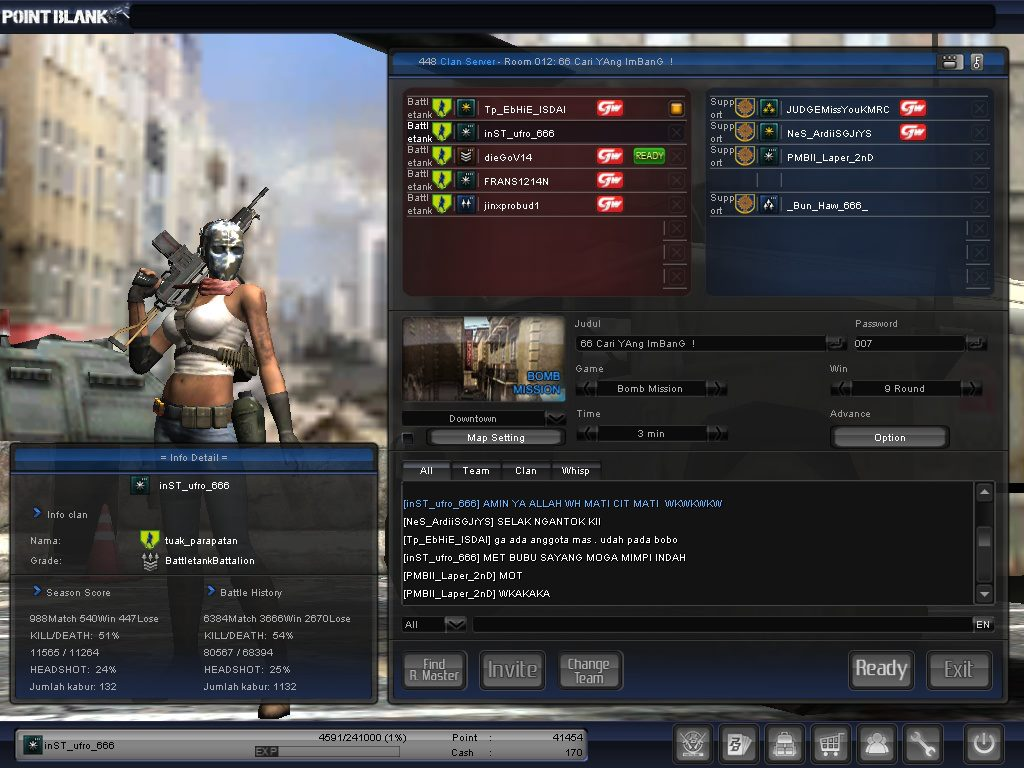 ID CHAR POINTBLANK GRATIS PANGKAT BINTANG-COOLONEL-LETCOL-MAJOR-DIAMON