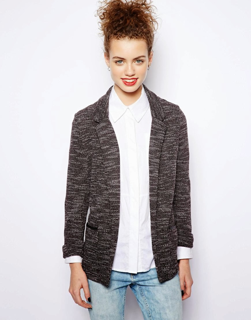 new look grey blazer