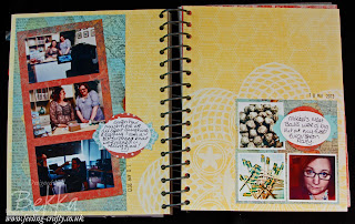 This and That Journal / Smash Book Page by UK based Stampin' Up! Demonstrator Bekka Prideaux - check out all the fab things she has done with this journal!