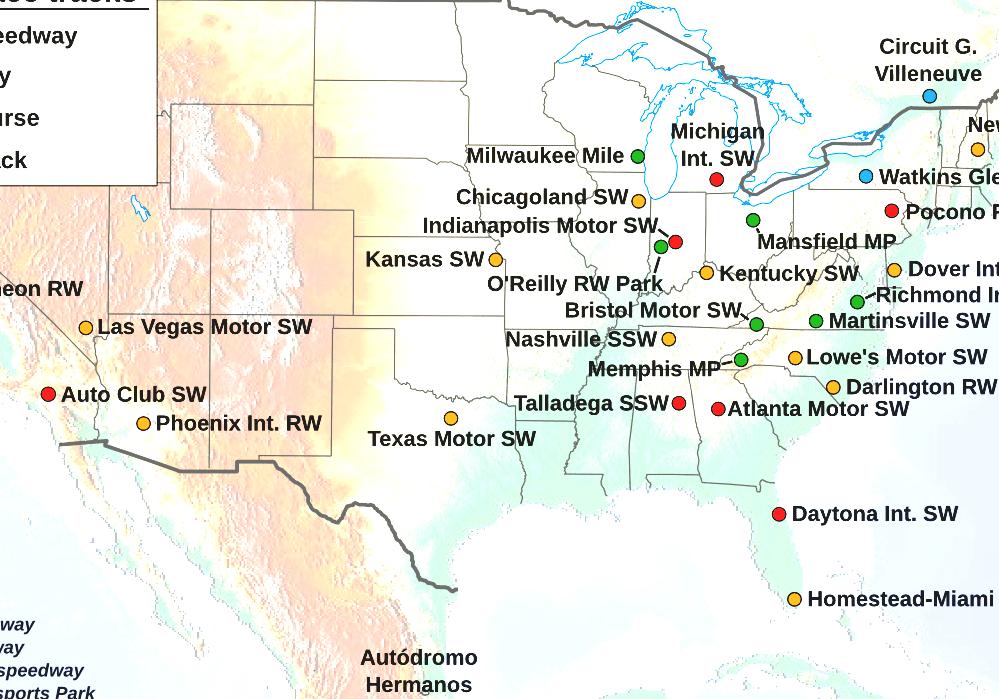 List Of NASCAR Tracks - Nascar Florida