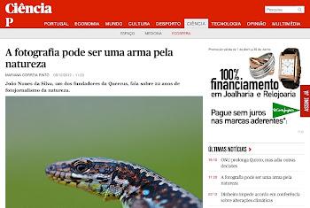 Destaque no site do jornal PÚBLICO