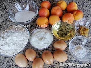 Prajitura cu caise ingredientele necesare retetei