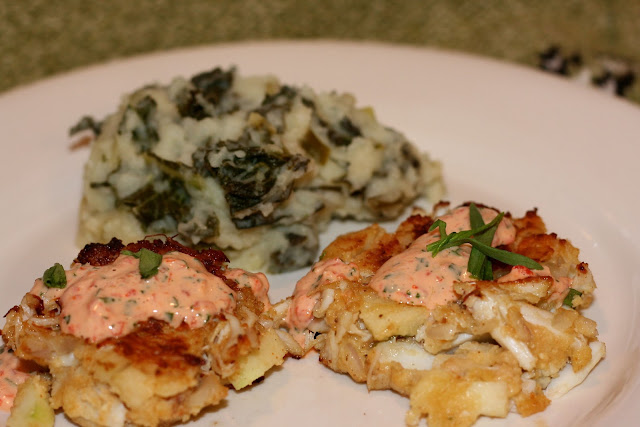 Crabcakes &amp; Colcannon