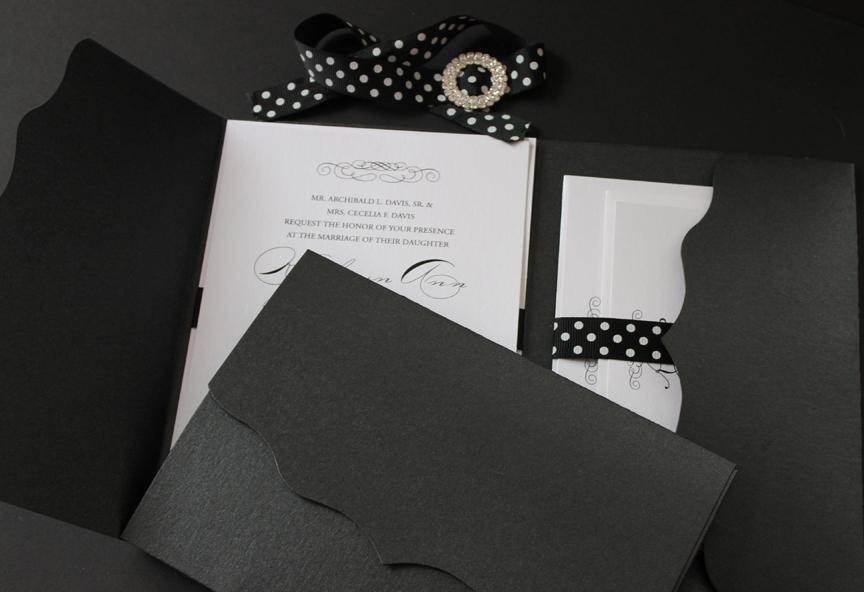 Scalloped Wedding Invitation/Pocket Folder | Pretty Please ...