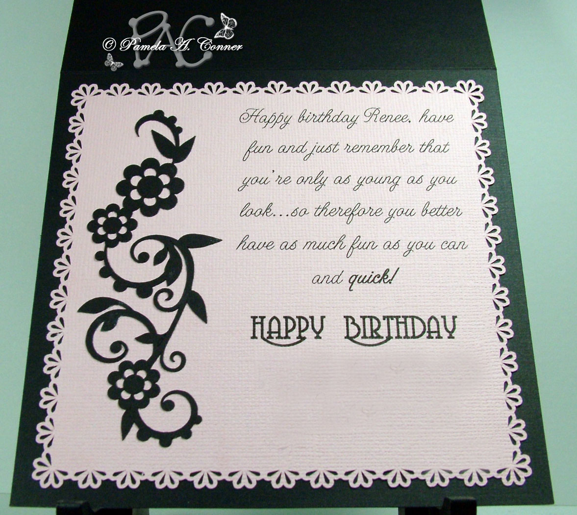 Since This Card Is 5 1 2 Inches Square I Had To Design An Envelope For It And Wanted Be Able Use A Piece Of Black Paper That Only