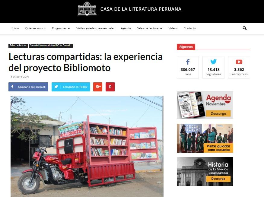 CASA DE LA LITERATURA - LECTURAS COMPARTIDAS