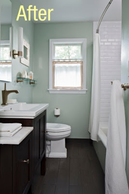 The bath showcase before and after zinka s diy bath remodel - Diy bathroom remodel before and after ...
