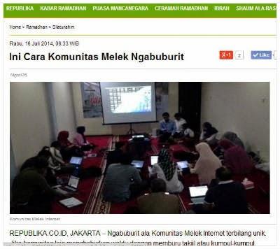 Ini Cara Komunitas Melek Ngabuburit