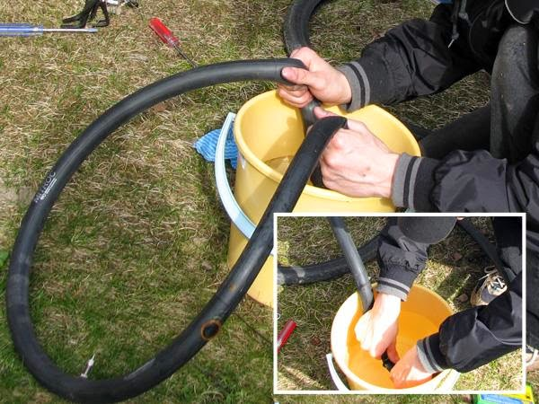 Repairing bicycle tires