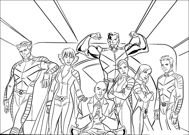 x men coloring book pages - photo #7