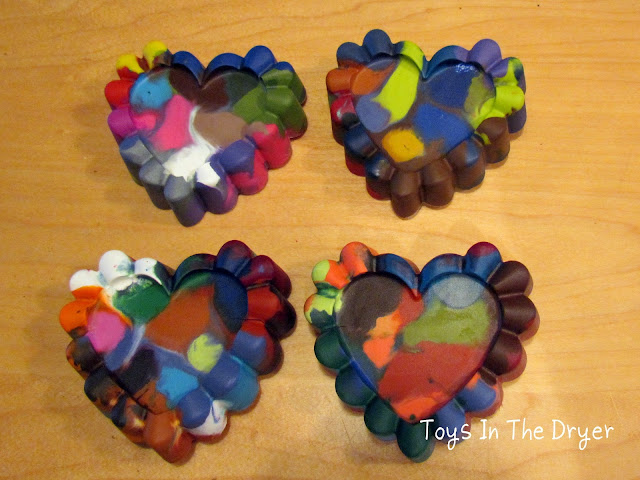heart shaped crayons, Valentine's Heart Crayons