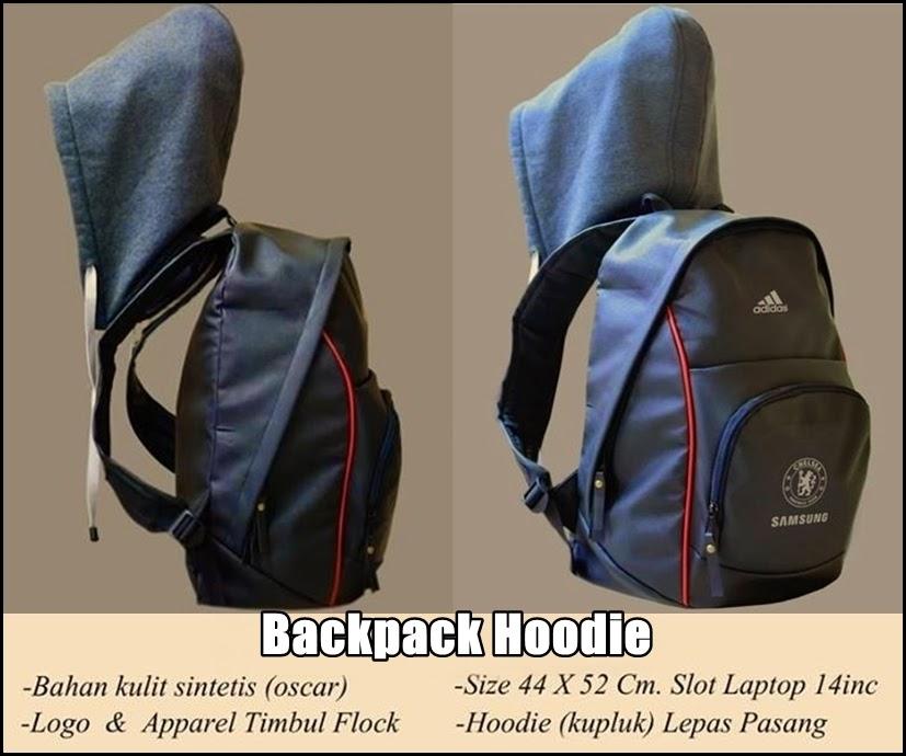 Tas Backpack Hoodie Bahan Kulit Chelsea