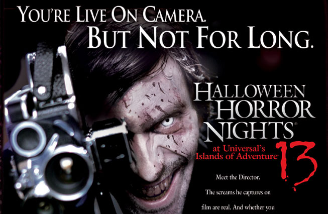 halloween horror nights 13 theme was based around a new icon the director the director was a filmmaker who specialized in snuff films depicting his - Halloween Horror Night Theme