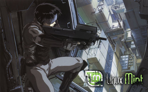 Ghost in the Shell, Linux Mint por Dannie92