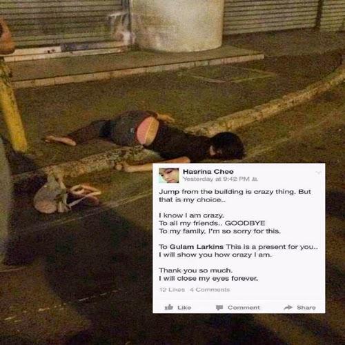 Remaja Perempuan Mati Bunuh Diri di CP KK
