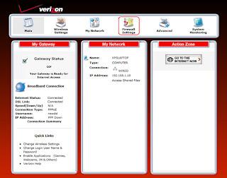 westell 7500 firewall setting