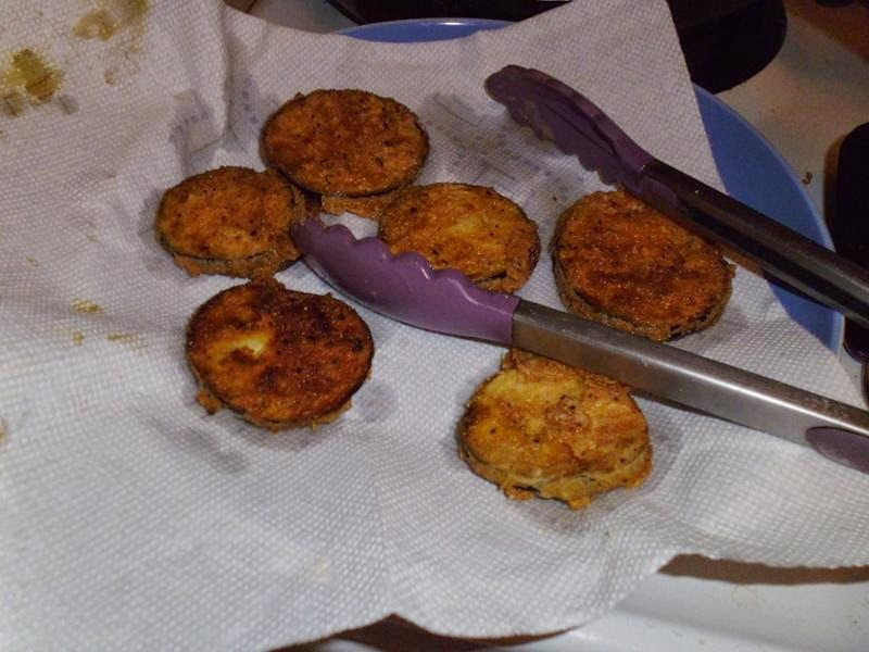 Fried Eggplant hot off the pan